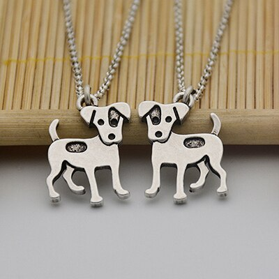 Boston Terrier Dog Charms Pendant Necklace