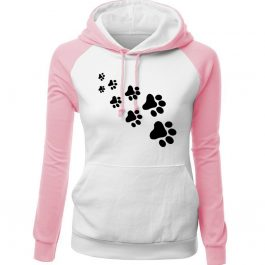 Winter Fleece Women's Sportswear PAWS Print Sweatshirt