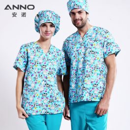Dog Print Medical scrubs Sets Nursing and Pieces