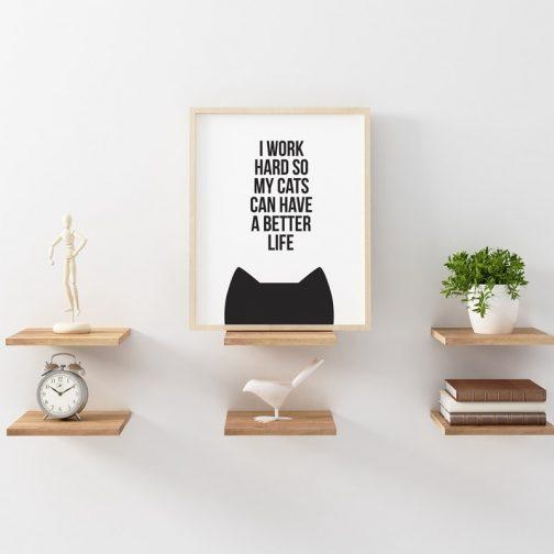 Canvas cat quote