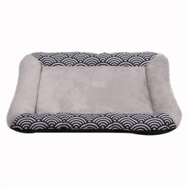 Wave Bed Pet Mat Kennel Sofa with Cotton Filled Blanket