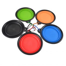 Pet Silica Gel Collapsible Silicone Dow Bowl Candy Color