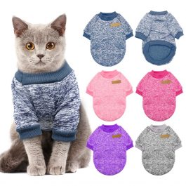 Dog Cat Clothing Autumn Winter Pet Clothes Sweater For Small Dogs Cats Chihuahua Pug Yorkies Kitten Outfit Cat Coat Costume