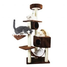 Cat Sisal Rope Scratching Post Climbing House