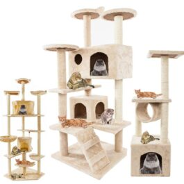 Pet Luxury Furniture Cat Tower 36-80 Inches Pet Cat Tree Towers