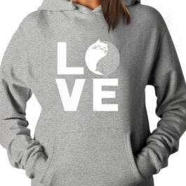 Women Sweatshirts Love Cats Loose Pullover Hoodies