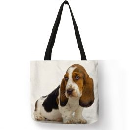 Terrier Dog Art Eco Reusable Shopping Bag.
