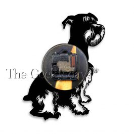 Schnauzer Dog Vintage Vinyl Record Wall Clock 12 Inch Watch