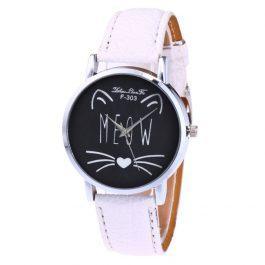 Meow Face Analog Quartz Round Watch