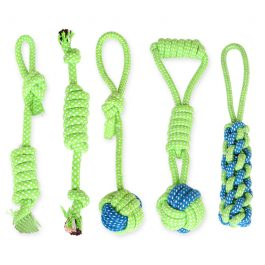 Green Rope Dog Toys