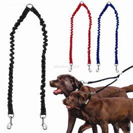 Double Dog Leash Elastic Bungee Pet Coupler