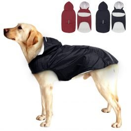 Waterproof Dog Raincoat for Large Dogs Reflective