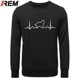 REM Cavalier King Charles Spaniel Dog Heartbeat Men Hoodies, Sweatshirts