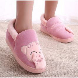 Cat Slip On Soft Winter Home Slipper