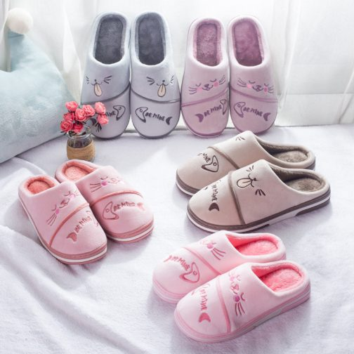 cat print slippers