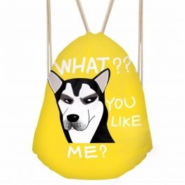 Drawstring Bag Cute Dog Cat Print Mini Backpack