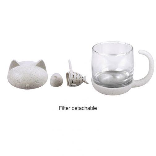 tea infuser cat cup pieces top