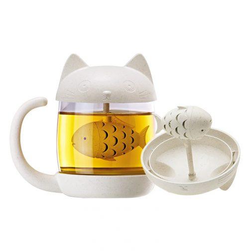 tea infuser cat cup