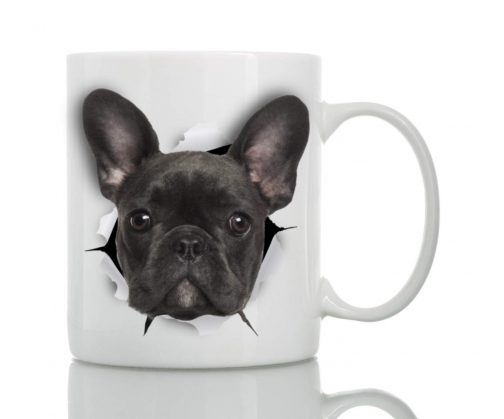 French terrier on coffee mug cup