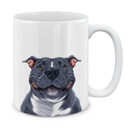 Cute  Pit Bull Dog Ceramic Coffee Gift Mug Tea Cup, 11 OZ