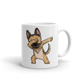 German Shepherd Dabbing Ceramic Coffee Mug