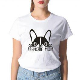 Frenchie Mom – French Bulldog Mom Print Tee Shirt