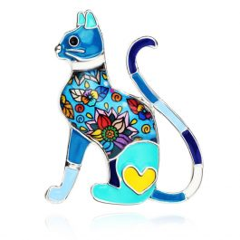 Elegant Cat Brooche