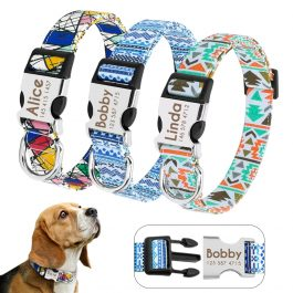 Dog Boho Print Collar