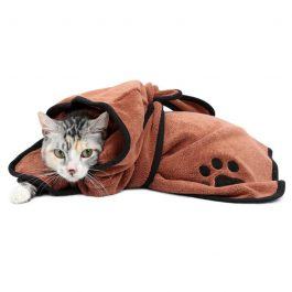 Cat care, cat towel